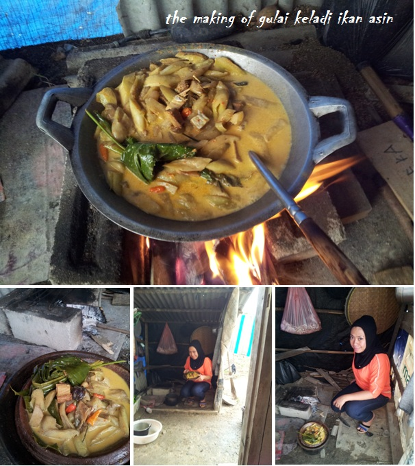 the making of gulai keladi