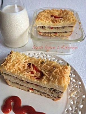 Roti Lapis Daging a