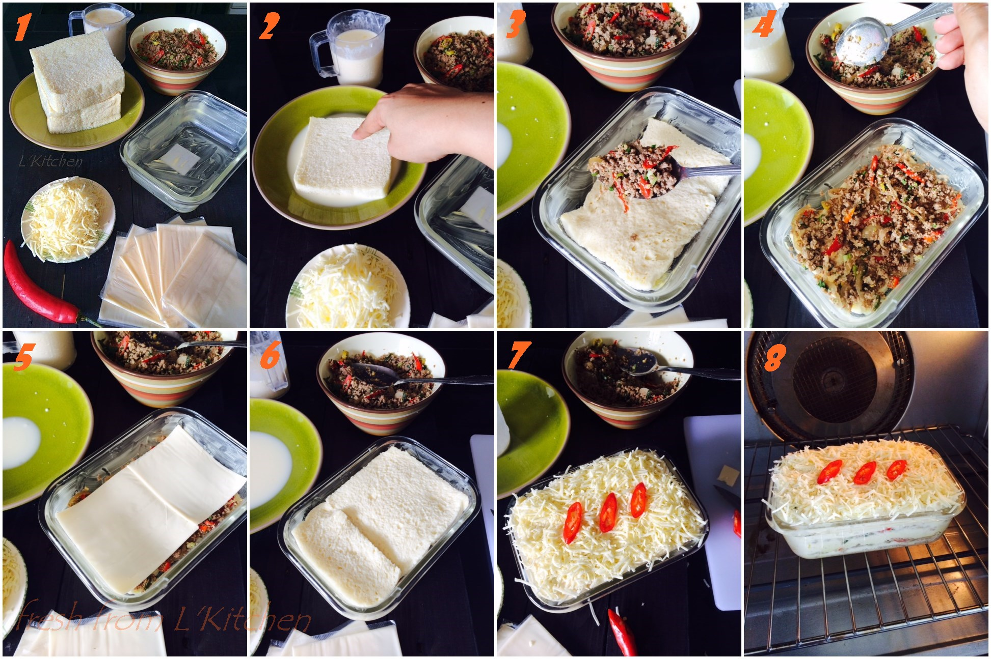Hidangan Sepinggan Wadai Ipau Dan Roti Tawar Lapis Daging